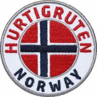 Hurtigruten, Norwegen, Aufnäher Patches, Flagge Fahne, Flagg-Patch