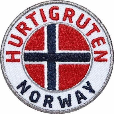 Hurtigruten, Norwegen, Aufnäher Patches, Flagge Fahne, Flagg-Patch