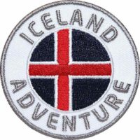Island, Iceland Aufnäher Patches, Flagge Fahne, Flagg-Patch
