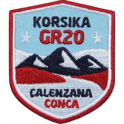Korsika GR20 Fernwanderweg von Calenzana nach Cognac, Trekking, Wandern, Aufnäher, Patch, Patches, Flicken, Bügelbild