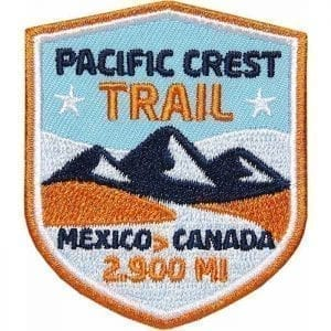 PCT - Pacific Crest Trail, Fernwanderweg USA von Mexico nach Canada, Aufnäher, Patch, Patches, Flicken, Bügelbild
