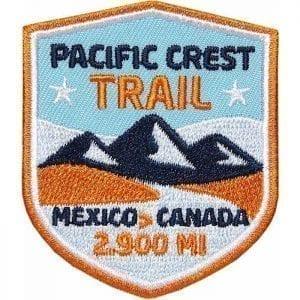 PCT - Pacific Crest Trail, Fernwanderweg USA von Mexico nach Canada, Aufnäher, Patch, Patches, Flicken, Bügelbild