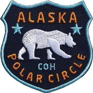 Alaska-Polarkreis-polar-eisbaer-baer-nationalpark-wildnis-club-of-heroes-coh-patch-patches-aufnaeher-abzeichen-sticker-flicken-buegeln-iron-applikation-gestickt