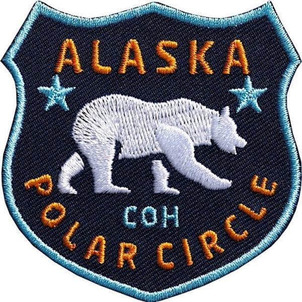 Alaska Polarkreis Eisbaer Aufnäher von Club of Heroes.