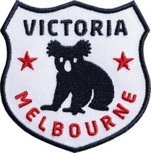 Australien-victoria-melbourne-reise-wappen-flagge-club-of-heroes-coh-patch-patches-aufnaeher-abzeichen-sticker-flicken-buegeln-iron-applikation-gestickt