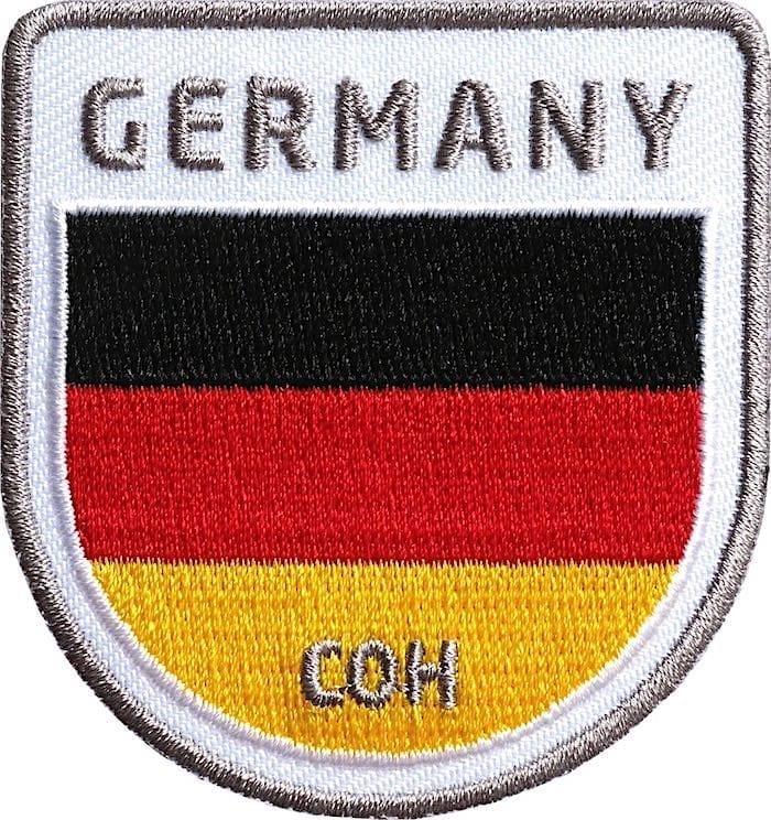 Deutschland Germany Flagge Aufnäher von Club of Heroes.
