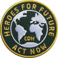 Heroes-for-future-Klimaschutz Aufnäher von Club of Heroes.