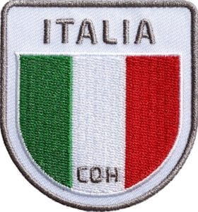 Italien-Italy-Italia-reise-flagge-wappen-flag-fahen-club-of-heroes-coh-patch-patches-aufnaeher-abzeichen-sticker-flicken-buegeln-iron-applikation-gestickt