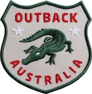 Krokodil-Aligator-Australien-Outback-reptil-wappen-flagge-club-of-heroes-coh-patch-patches-aufnaeher-abzeichen-sticker-flicken-buegeln-iron-applikation-gestickt