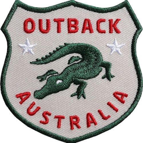 Krokodil-Aligator-Australien-Outback Aufnäher von Club of Heroes.