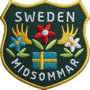 Mittsommer Schweden Aufnäher von Club of Heroes.