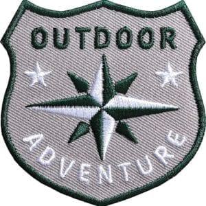 Outdoor Patch Bügelbild Aufnäher mit Kompass
