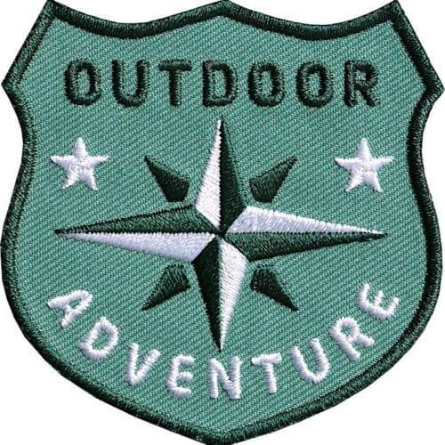 Outdoor Patch Bügelbild Aufnäher mit Kompass Olive