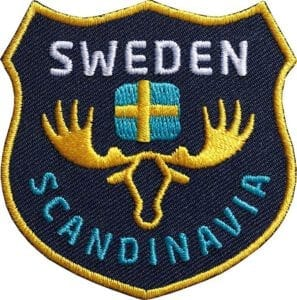 Schweden-sweden-skandinavien-reise-natur-club-of-heroes-coh-patch-patches-aufnaeher-abzeichen-sticker-flicken-buegeln-iron-applikation-gestickt