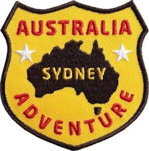 Sydney-Australien-australia-abenteuer-reise-wappen-flagge-club-of-heroes-coh-patch-patches-aufnaeher-abzeichen-sticker-flicken-buegeln-iron-applikation-gestickt