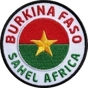 Burkina-Faso Sahel-Zohne Afrika Aufnäher von Club of Heroes.