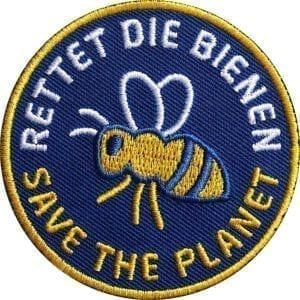 rettet-die-bienen-biene-planet-naturschutz-umwelt-imker-imkerei-club-of-heroes-coh-patch-patches-aufnaeher-abzeichen-sticker-flicken-buegeln-iron-applikation-gestickt