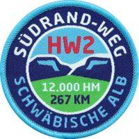 HW2 Südradweg Schwäbische Alb - Aufnäher von Club of Heroes.