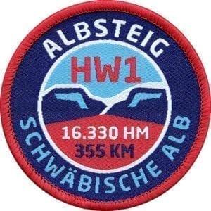 HW1 Albsteig - Schwäbische Alb - Aufnäher von Club of Heroes.