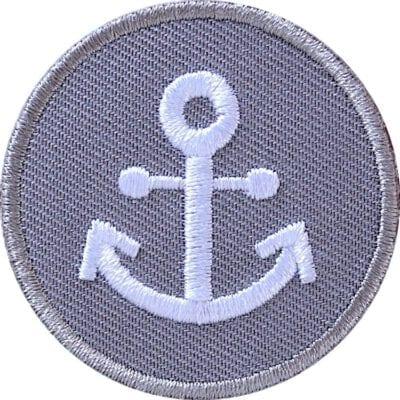 Anker Maritim Patch, gestickter Aufnäher, Aufbügler, Applikation