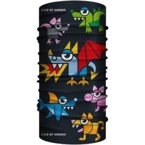 MultiFunktionstuch Drachen Bandana mit Tierfiguren