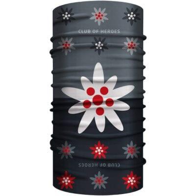 Edelweiss MultiFunktionstuch Bandana Mundschutz grau schwarz
