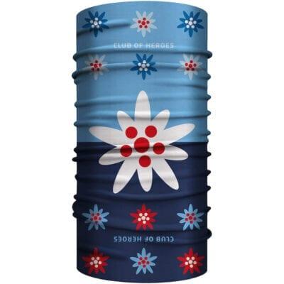 Edelweiss MultiFunktionstuch Bandana Mundschutz blau
