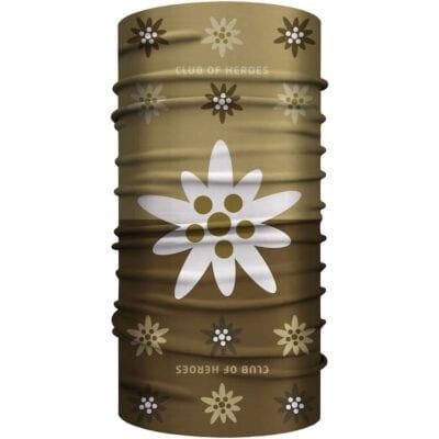 Edelweiss MultiFunktionstuch Bandana Mundschutz braun