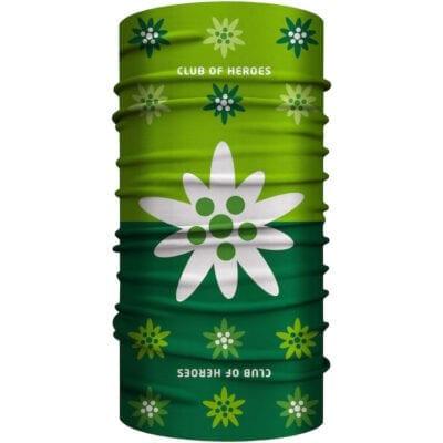 Edelweiss MultiFunktionstuch Bandana Mundschutz Grün