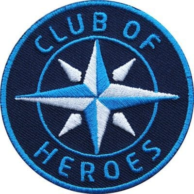 Aufnäher von Club of Heroes. Hochwertig gestickte Patches wie Aufbügler Bügelbilder Bügelflicken zur Veredelung von Textilien, zum Aufbügeln oder Aufnähen auf Jacken, Kleidung.