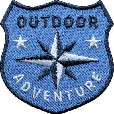 Outdoor Patch Bügelbild Aufnäher mit Kompass Blau