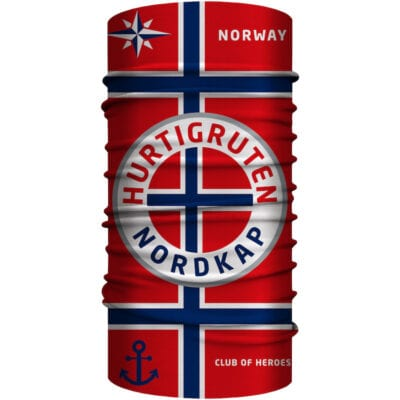 Hurtigruten Norwegen Bandana 25 x 50 cm von Club of Heroes