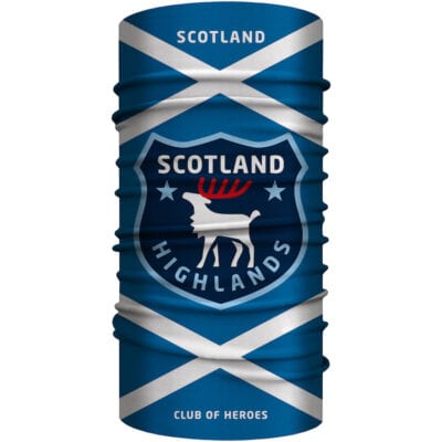 Schottland Highlands Multifunktionstuch 25 x 50 cm / Bandana, nahtloses Schlauchtuch
