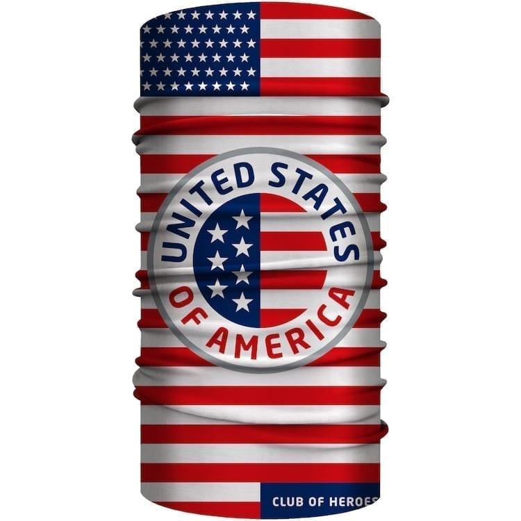 USA United States of America Multifunktionstuch 25 x 50 cm / Bandana, nahtloses Schlauchtuch