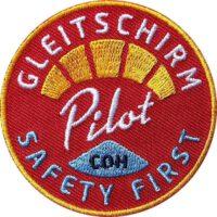 Gleitschirm Patch, Aufnäher von Club of Heroes für Paragliding Piloten.
