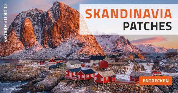 Skandinavien Patches für den Hohen Norden von Club of Heroes